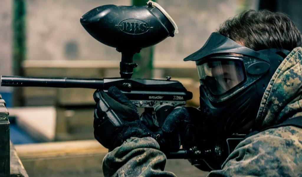 Guys Playing Paintball in Northern Ireland